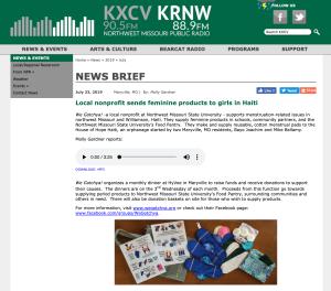 KXCV-KRNW feature story about We Gotchya