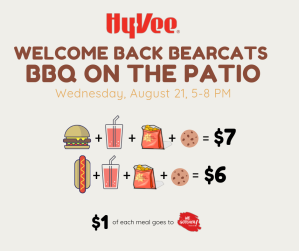 Welcome Back BBQ on Hy-Vee Maryville Patio