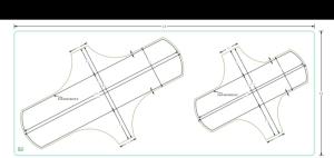 Die cut layouts