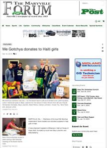 Maryville Forum We Gotchya article