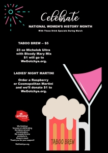 A&G Drink Specials for National Women's History Month