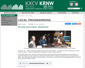 KXCV Morning Conversation with We Gotchya, by Jeremy Werner