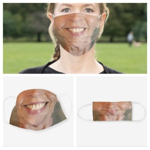 Your own face on a face mask