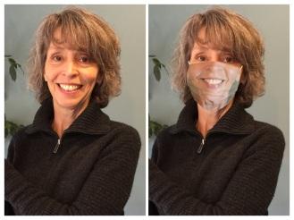 My face on a custom face mask.